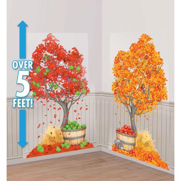 Autumn Trees Scene Setters 2ct fall fest Pinterest Scene setters - halloween scene setters decorations