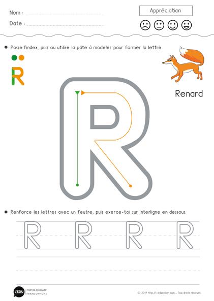 Super contenu sur Apprendre à écrire la lettre R en
