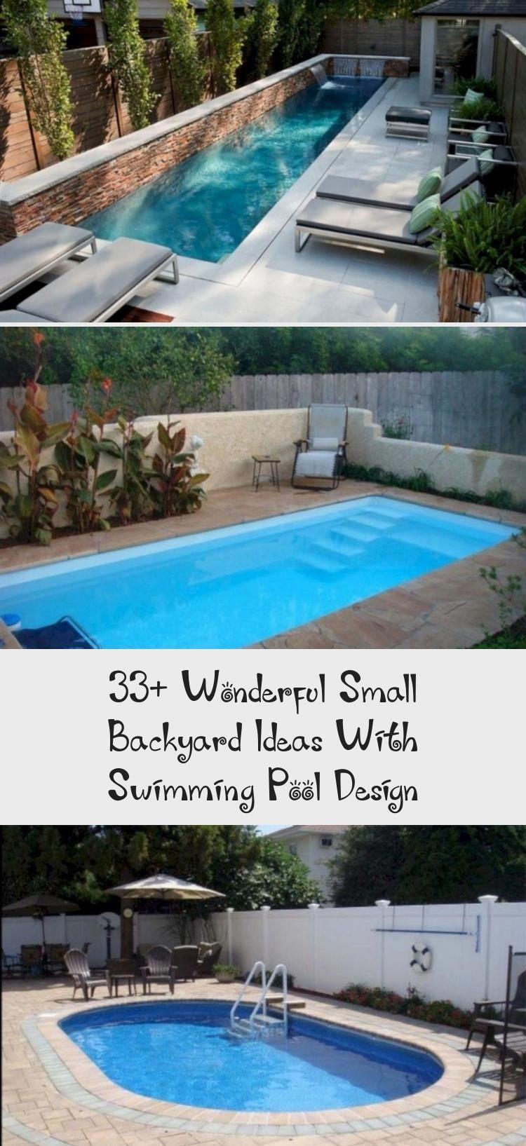 33 Wonderful Small Backyard Ideas With Swimming Pool Design Home Design Backyard Design Home Ideas Small Backyard Pool Landscaping Swimming Pool Designs