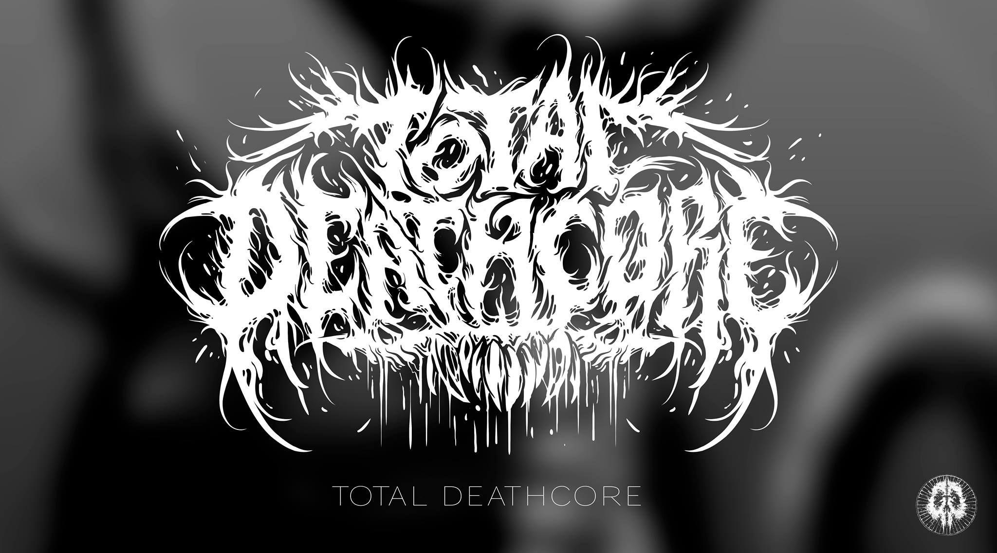 Total deathcore glorious gorification black metal logo inspiration neon signs