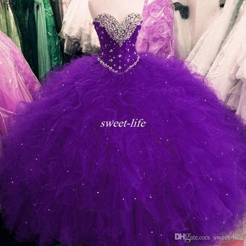Cheap Real Images Royal Blue Sweet 16 Party Debutantes Gowns Puffy ...