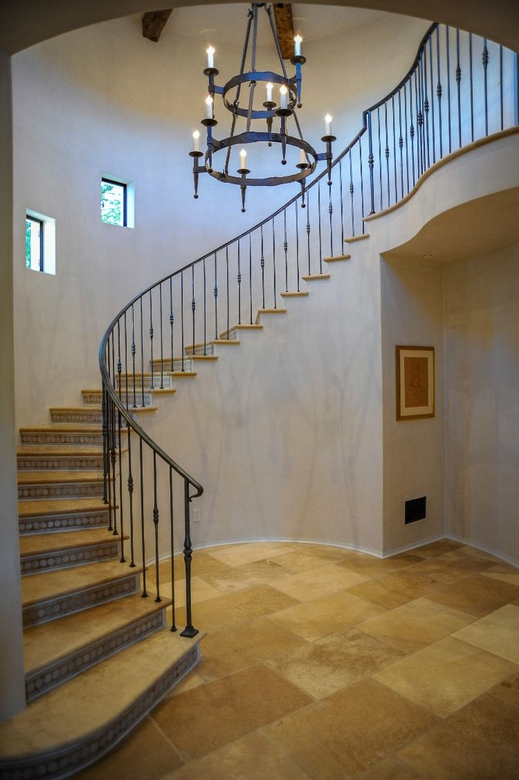 Spanish Colonial Curved Staircase   Curved staircase ...