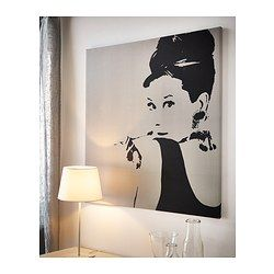 tableau audrey hepburn for the home pinterest deco ikea et d co maison. Black Bedroom Furniture Sets. Home Design Ideas