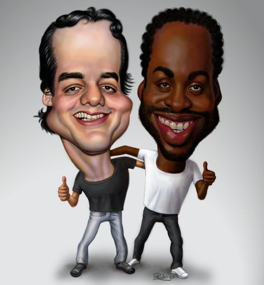 Wagner e Lázaro Ramos,em caricatura!