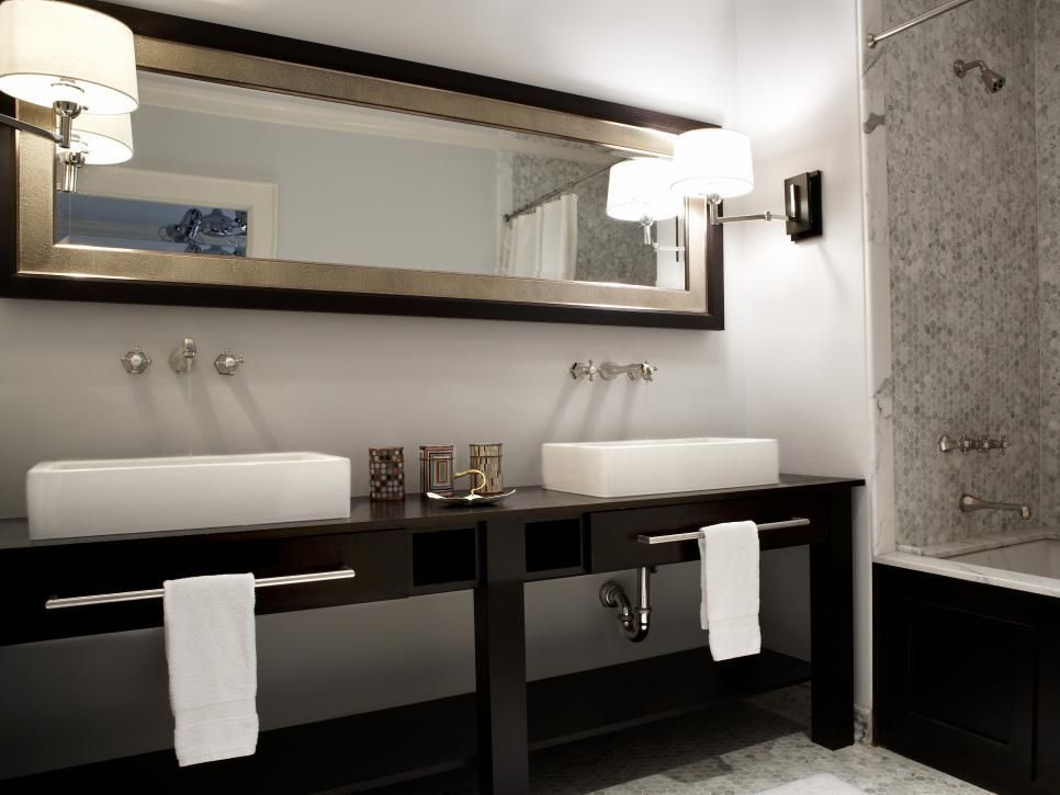 54+ Masculine Bathroom Remodel Design with a Black Theme