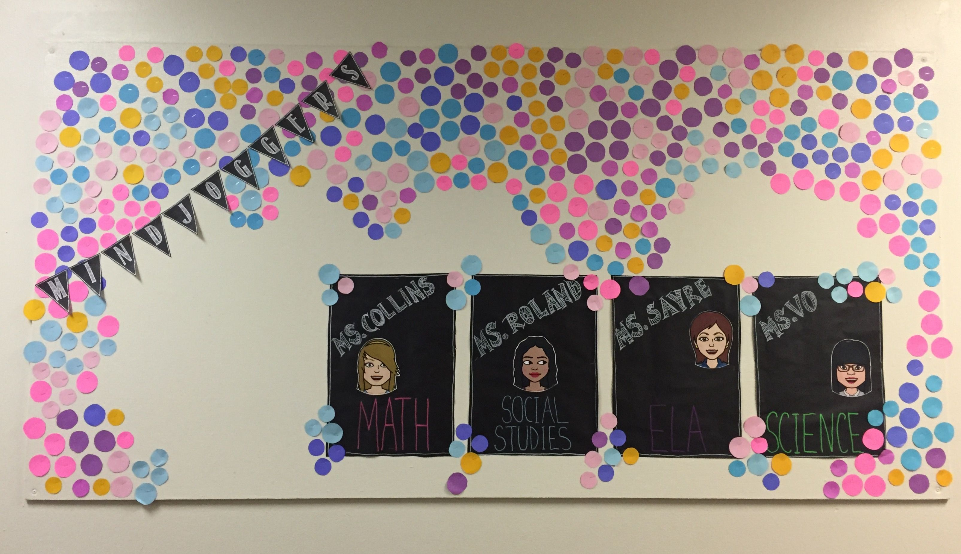 Creative Bulletin Board To Feature Teaching Team With Bitmojis