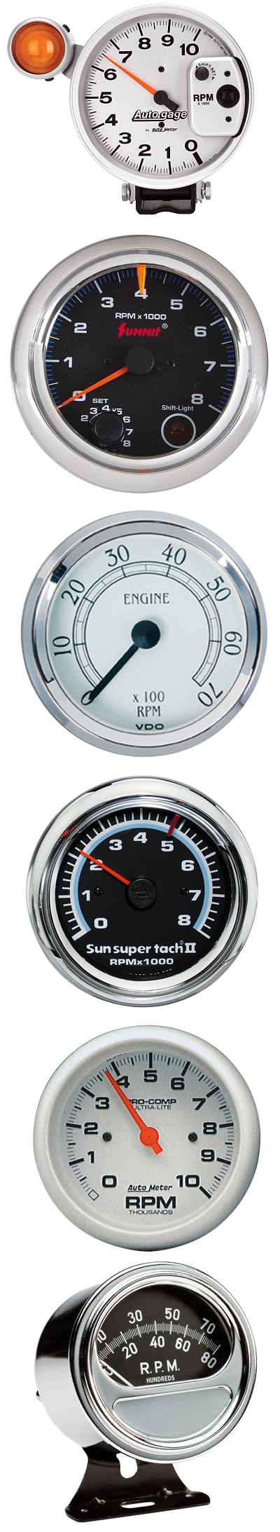 Summit Digital Meters : Keep track of your rpms with tachometers from auto meter