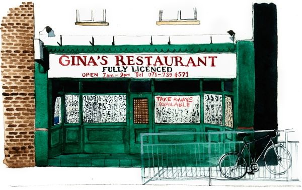 Eleanor Crow's East End Cafes —Gina's Restaurant, Bethnal Green Road