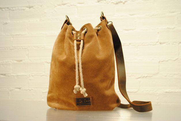 88cd41c2d Mochilas y bolsas - Bolso de piel - hecho a mano en DaWanda.es ...