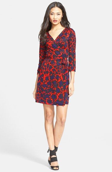 Free shipping and returns on Diane von Furstenberg  New Julian Two  Silk  Wrap Dress at Nordstrom.com. Lithe silk jersey forms an iconic wrap dress  ... 3ee463de2d13