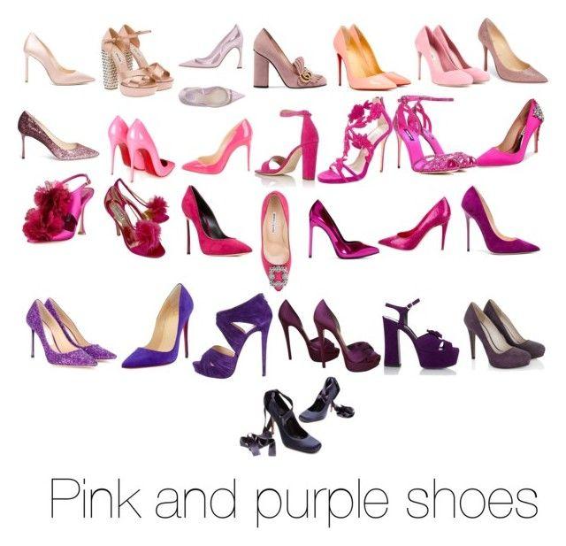 """Pink and purple shoes - my items"" by natalia-de-melo on Polyvore featuring Badgley Mischka, Oscar de la Renta, Yves Saint Laurent, Manolo Blahnik, Giamba, Jimmy Choo, Dolce&Gabbana, Christian Dior, Christian Louboutin and Miu Miu"