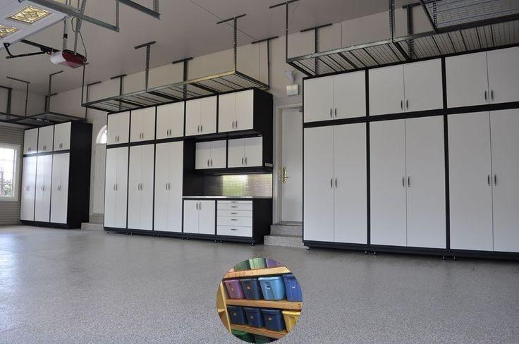 Garage storage ideas for lawnmowers and garage storage ideas on a budget. # Bud ...#bud #budget #garage #ideas #lawnmowers #storage