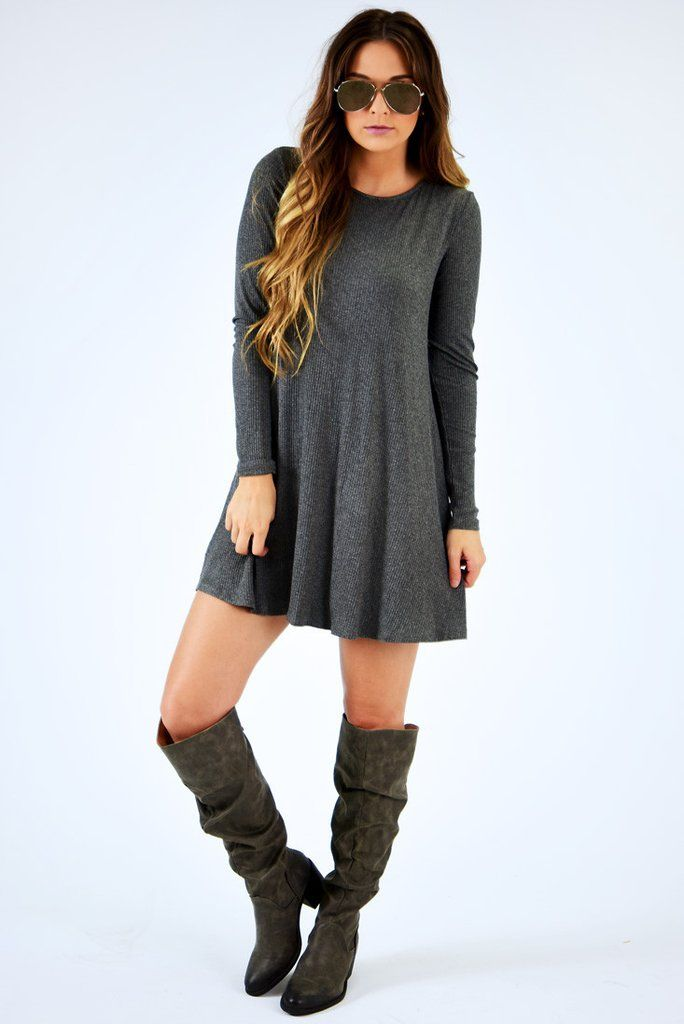 These Are The Days Dress: Gray