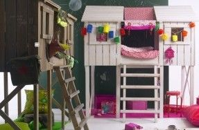 Treehouse Loft Bed Bunk Bed Playhouse Style Loft Bed With Enclosed