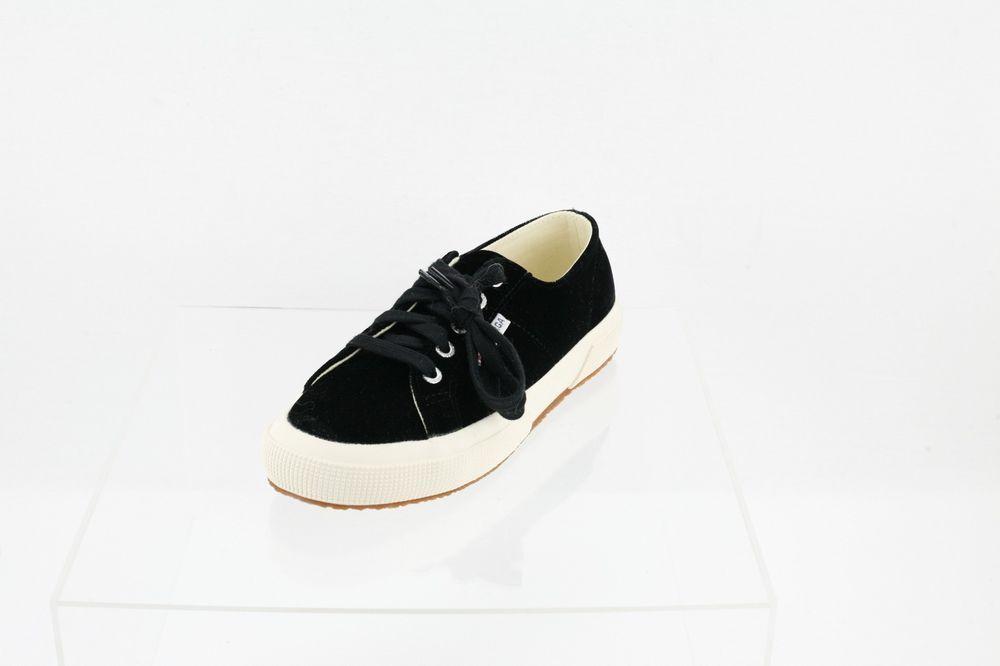 c8b5fd36752cc Superga 2750 Velvtw Fashion Sneaker Black Unisex Shoes Size M 4.5 W ...