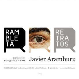 Javier Aramburu: Exposición RETRATOS en Valencia [del 14 al 30 Nov 2013] Espai Rambleta. #ElefantRecords #Exposición #Aramburu