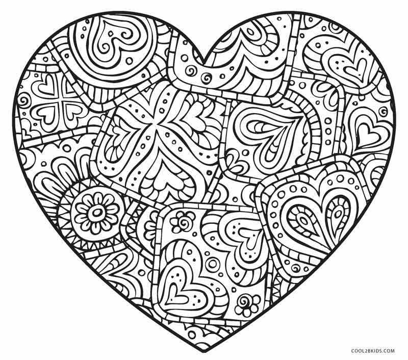 Heart Coloring Pages Heart Coloring Pages Dream Catcher