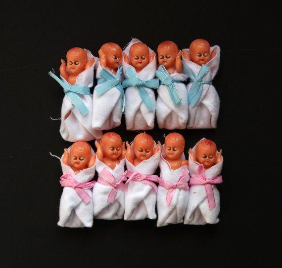 Lot Of 10 Vintage Plastic Miniature Baby By Oliviavintagekids, U20ac12.00