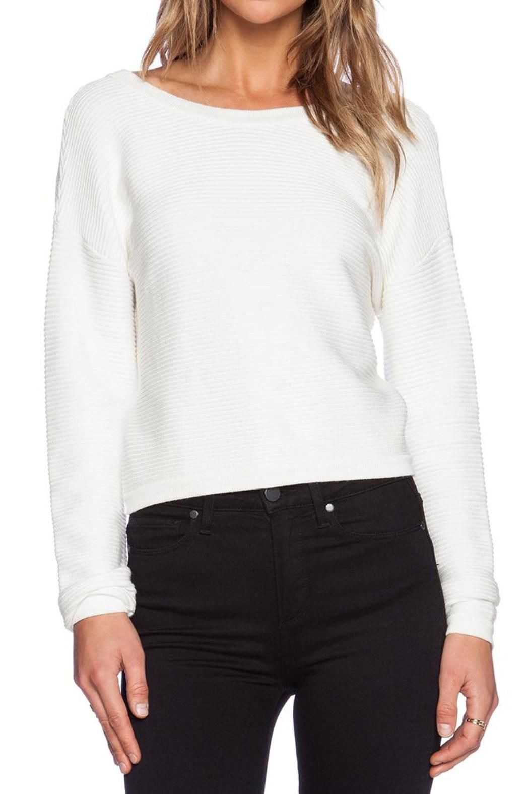 Assali Snatch Sweater | White long sleeve, Scoop neck and Boutique