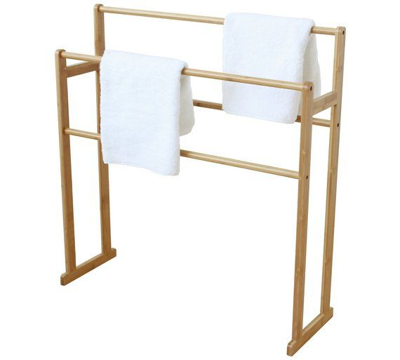 Buy Collection Freestanding Bamboo Towel Rail at Argos.co ...