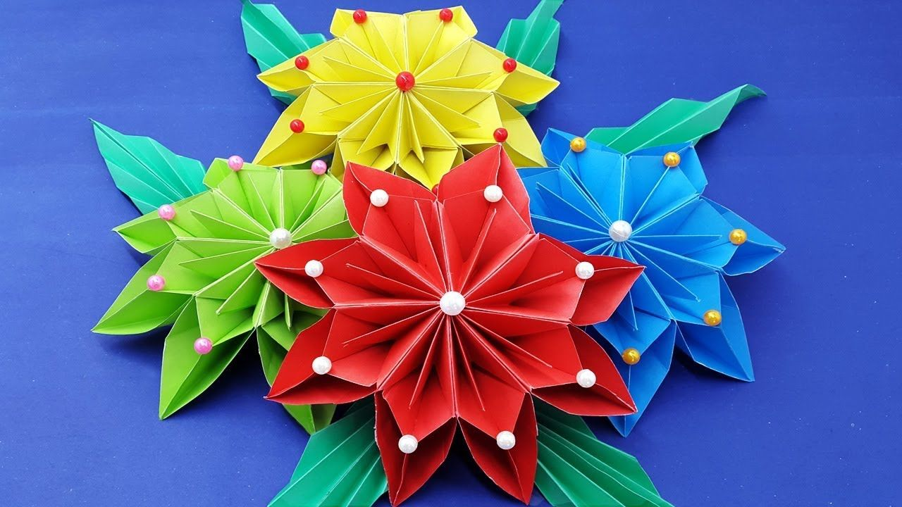 How To Make Paper Flowers Diy Wall Hanging With Paper Flower Wall Deco Paper Flowers Diy Paper Flowers Paper Flower Wall