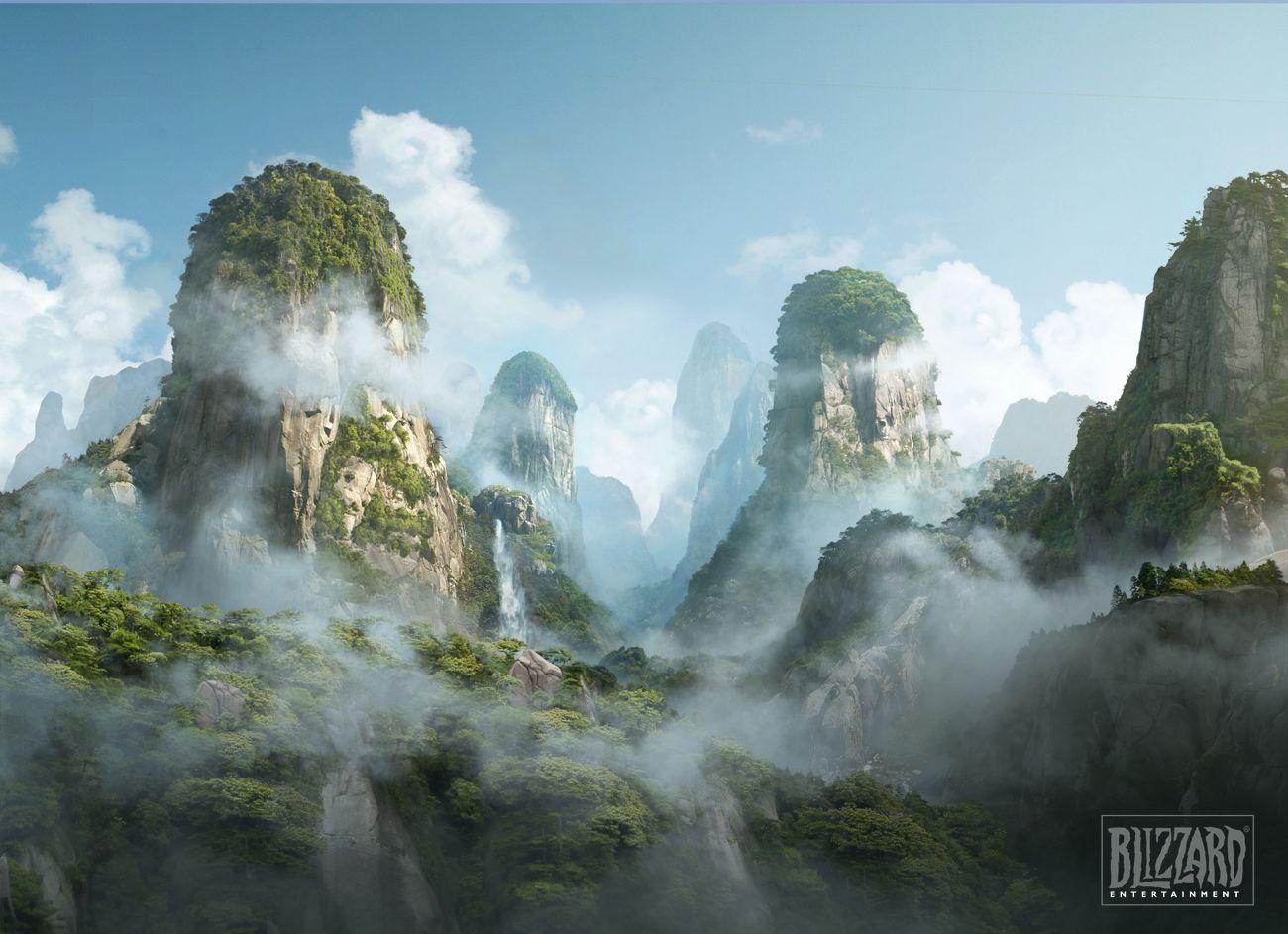 World of Warcraft Mists of Pandaria concept art