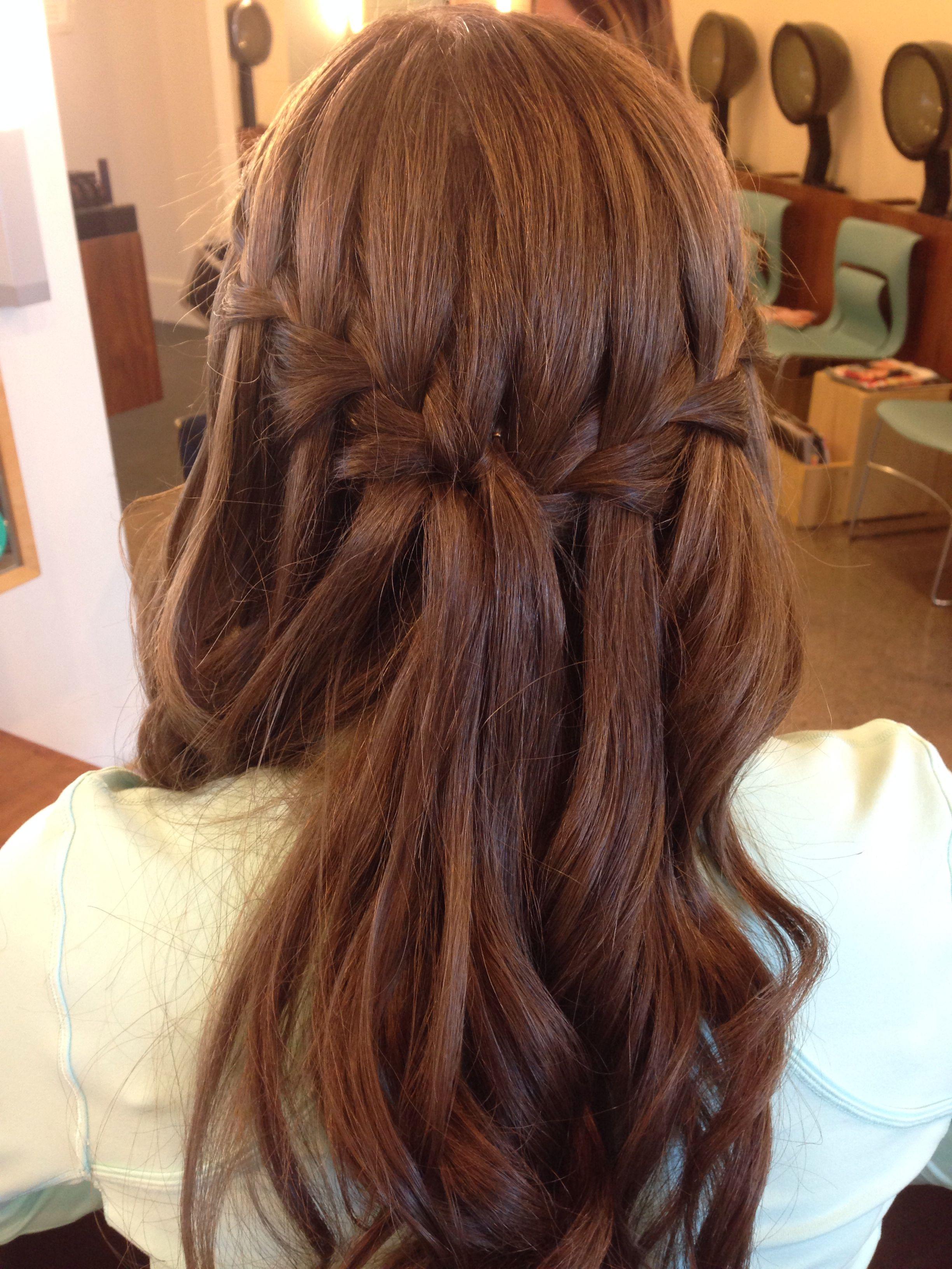 Double waterfall braid prom hair christihair