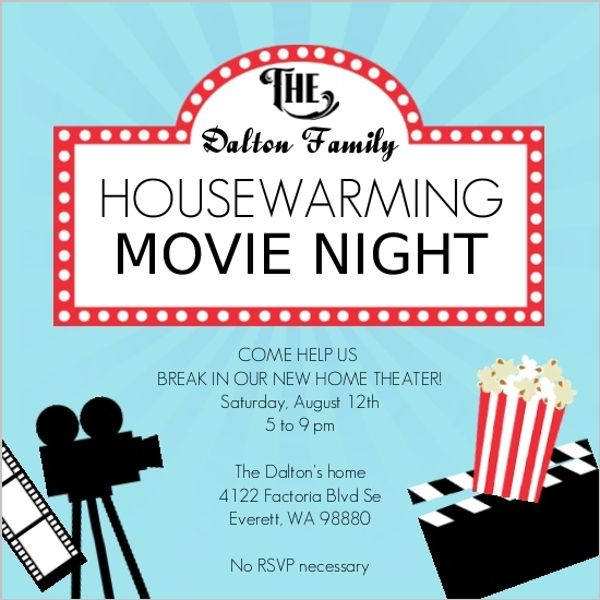 Movie Night Housewarming Party Invitation poster ideas Pinterest - best of sample invitation letter for housewarming ceremony