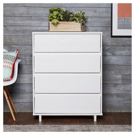 Modern 4 Drawer Dresser White Room Essentials Room Essentials 4 Drawer Dresser Chic Bedroom Design