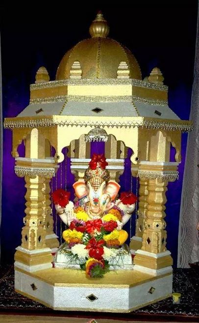 Ganpati Decoration Ideas Decoration For Ganpati Ganesh Pooja Decoration Ideas Vinayak Chaturthi Ganpati Decoration At Home Ganapati Decoration Decoration For Ganpati Ganpati Decoration Design