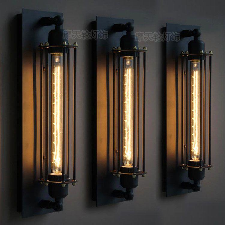 Retro wandlamp bar Cafe persoonlijkheid decoratie lampen industriële ...