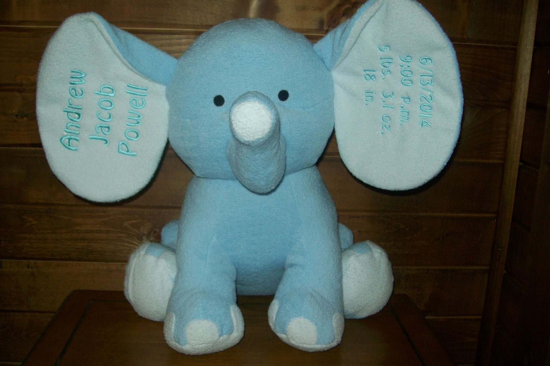 Personalized plush elephant baby gift 4295 with free shipping personalized plush elephant baby gift 4295 with free shipping available at personalizeyouritems negle Image collections
