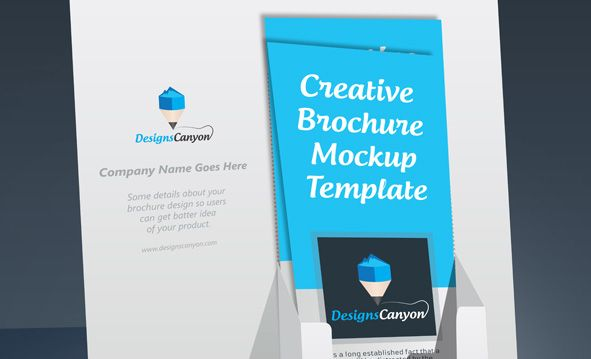 psd brochure holder mockup template free download