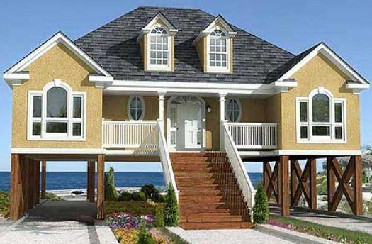 Fachadas casas de playa dise o decoracion pinterest - Casas americanas por dentro ...