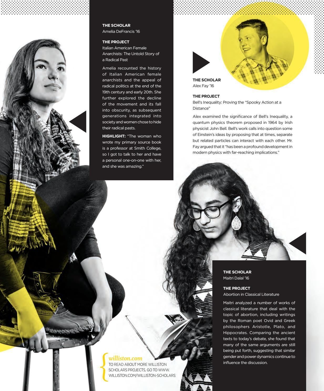 The Williston Northampton School Bulletin Design Editorial