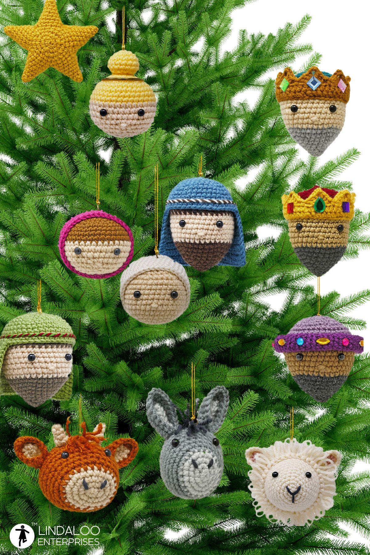 Nativity Crocheted Christmas Ornaments Christmas Crochet Patterns Crochet Christmas Decorations Christmas Crochet