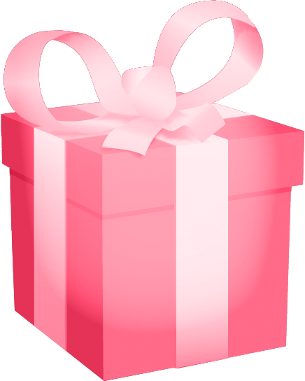 Pastel blue gift box with pink bow | Whimsical [2] | Pinterest ...