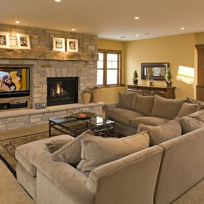 Tv Basement Design Ideas Pictures Remodel And Decor Livingroom Layout Fireplaces Layout Living Room With Fireplace