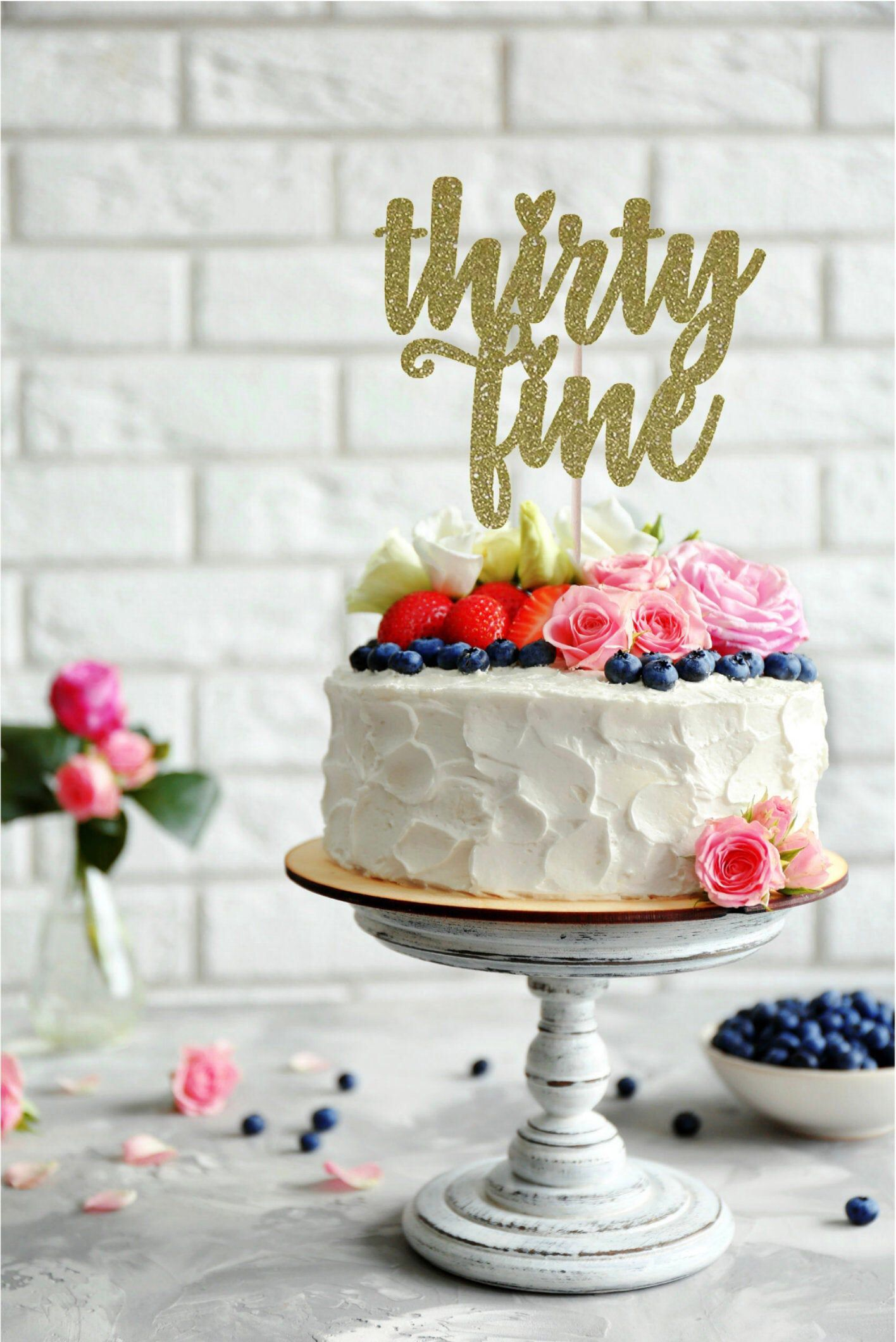 Thirty Fine Cake Topper Thirty Something Cake Topper Thirty Five Cake Topper Birthday Cake Topper 35th Cake Topper Milestone Birthday 30th Birthday Cake Topper Love Cake Topper Happy Birthday Cake Topper