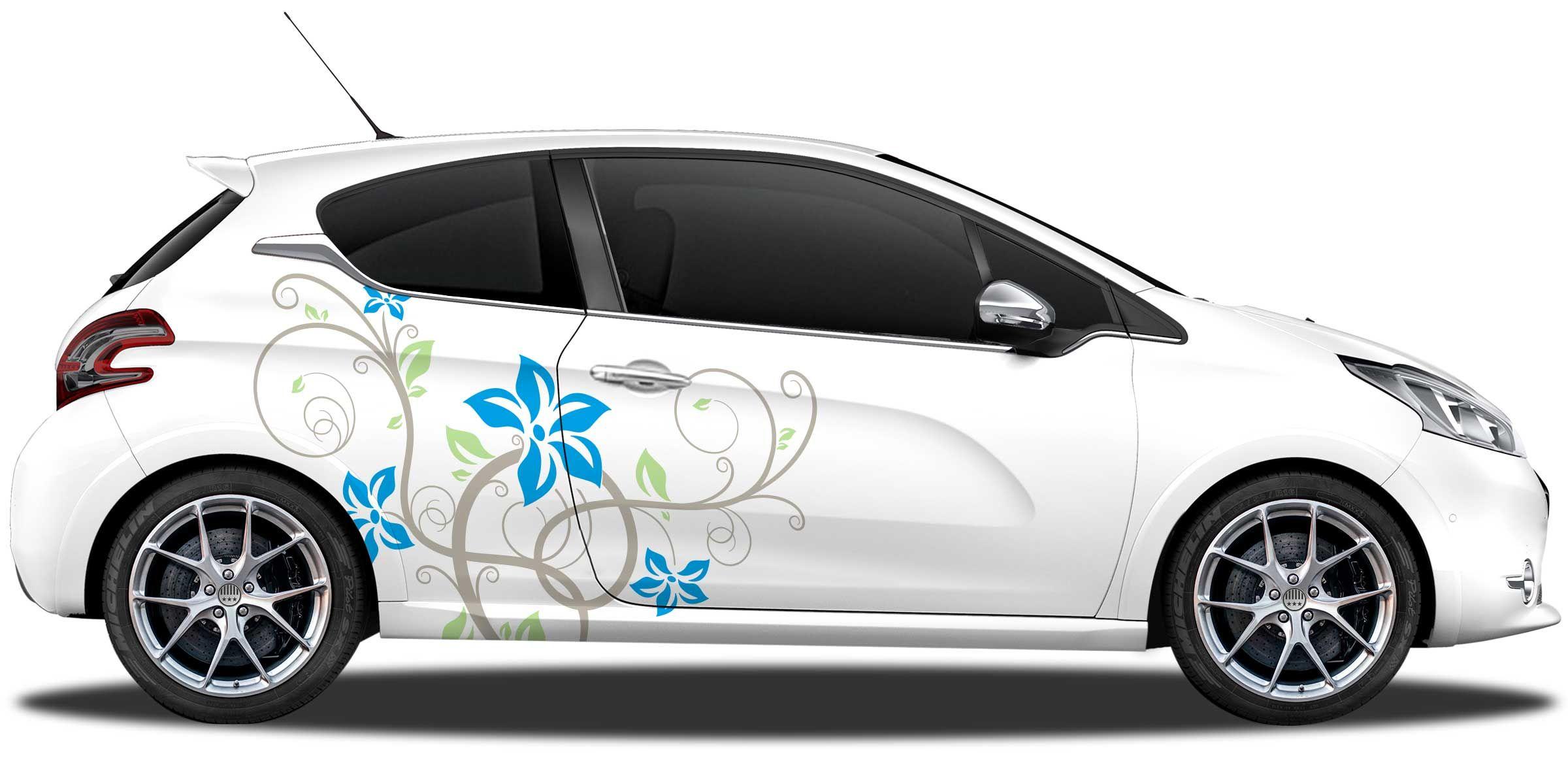 Autoaufkleber Blumenornament Pinterest