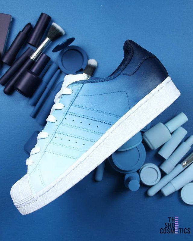 Custom Sneaker by d_customs | Blue adidas shoes, Sneakers
