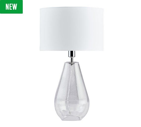 Buy heart of house darley bubble glass table lamp at argos co uk