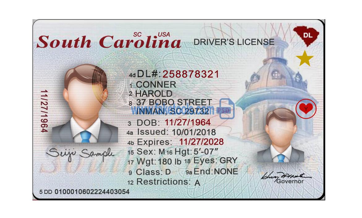 Ontario Driver License Template Psd