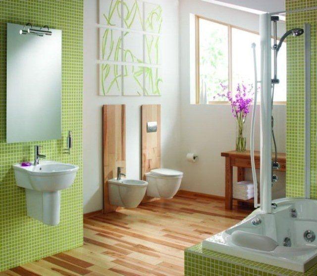 design salle de bains moderne en 104 ides super inspirantes - Salle De Bain Mosaique Verte