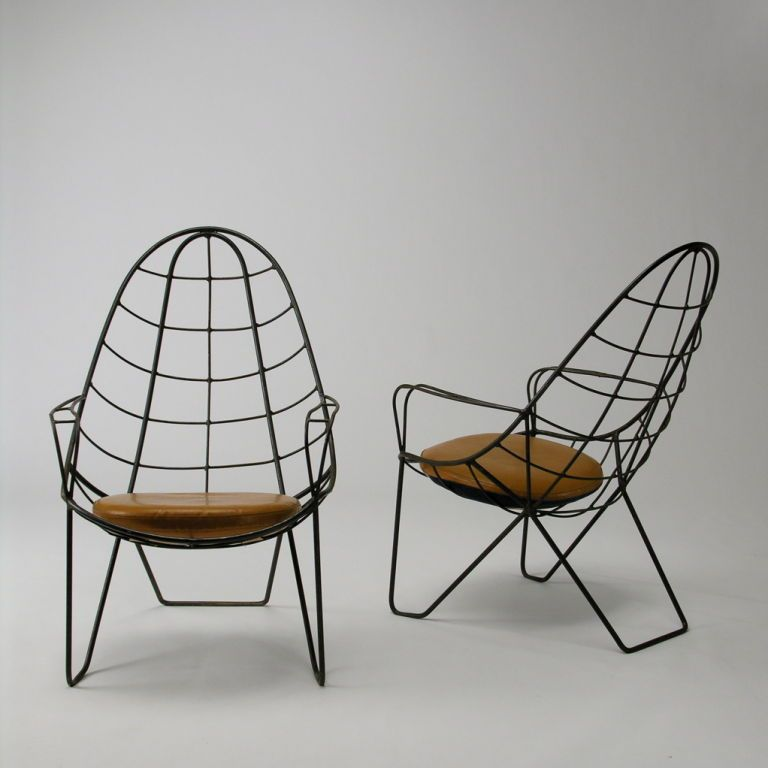 20th Century Mexican Modern Lawn Chairs