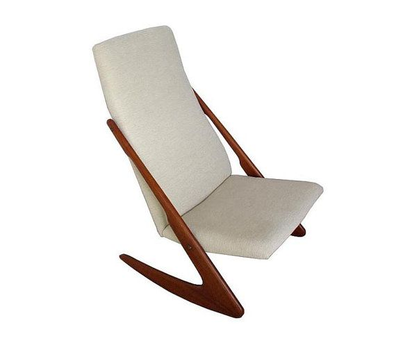 Elegant Danish Teak Boomerang Rocking Chair On Etsy 1 475 00 Rocking Chair Scandinavian Chairs Teak