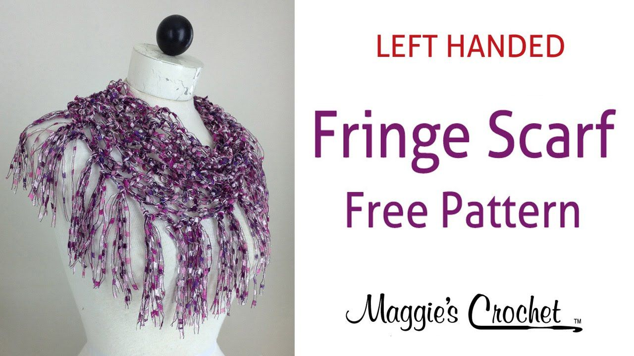 City Life Fringed Scarf Free Crochet Pattern by Maggie Weldon - Left ...