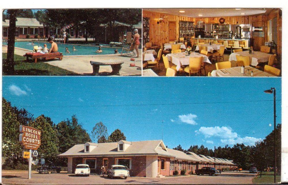 Undated Unused Postcard Lincoln Hotel Courts Ruston Louisiana La