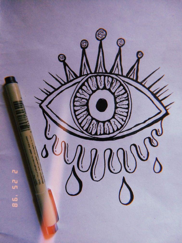 Psychedelic Evil Eye Doodle Art For Beginners Doodle Art Designs Psychedelic Drawings
