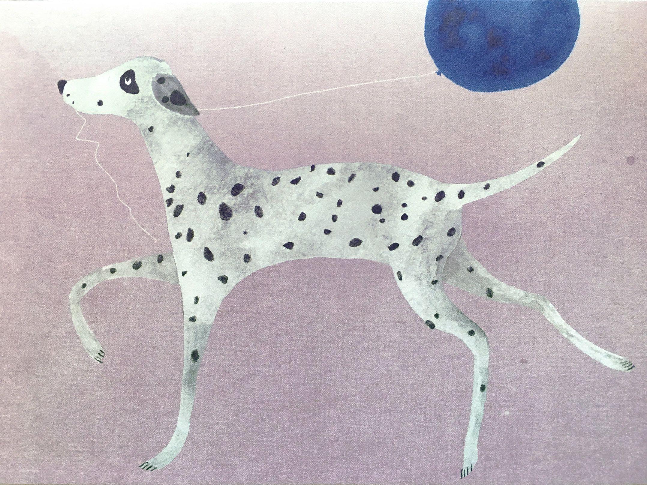 DALMATIAN DOG BIRTHDAY GREETINGS NOTE CARD